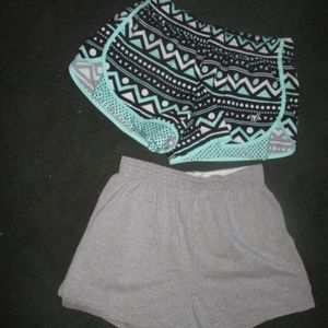 2 pair Vintage Cheer Athletic Dance Shorts Soffe